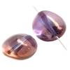 Glass Bead 26x22mm Stone Shape Strung Transparent Light amethyst Lustre
